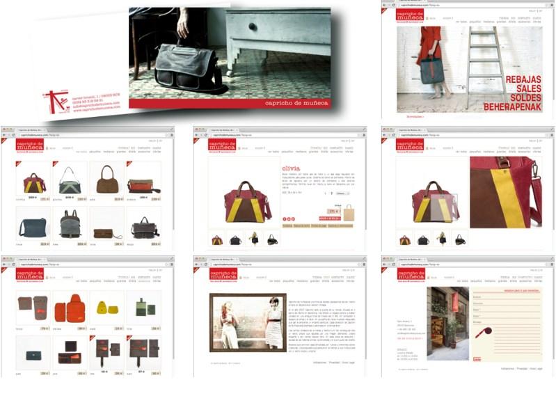 IMAGEN CORPORATIVA Y WEB www.caprichodemuneca.com