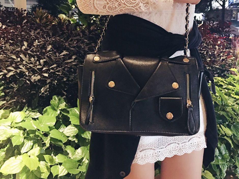 Sammydress leather jacket bag 002