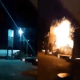 Like Transformers Movie Electric Post in Cebu Explodes, Onlooker Almost Fried