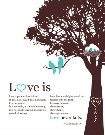 Love 1Corinthians 13 - Etsy - Fancy Prints