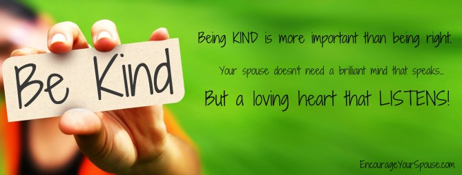 be kind to your spouse