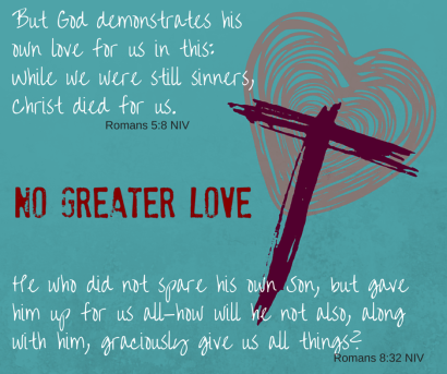 But God demonstrates his own love for us