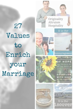 27 Values to Enrich your Marriage - 27 values for your marriage