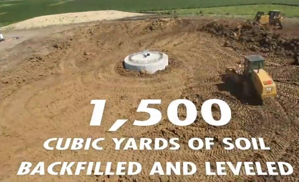 900 tons of material to build just 1 windmill peak for Soil vs dirt