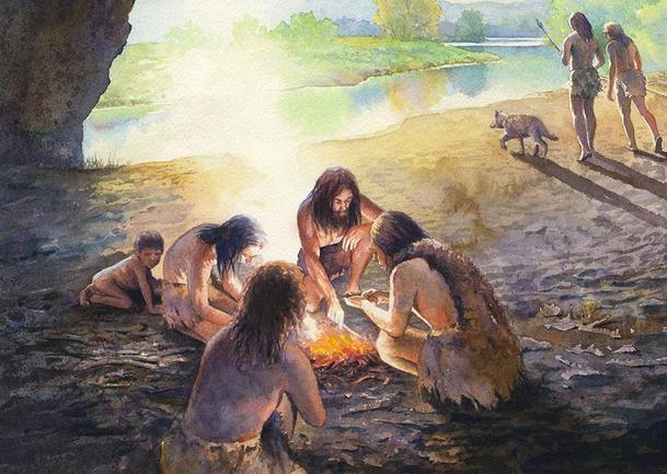campfire-neanderthal