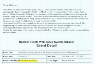 Nuclear Events Web-based System (NEWS)