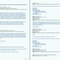 March 14th, 2011 - GI-199 Questions - Due to uncertainties in the data NRC sending letter to US Plants