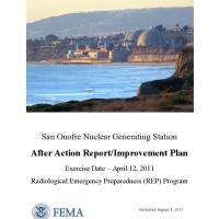April 12th, 2011 - RERP - Marine Corps/NRC/FEMA/SONGS -  San Onofre perform detailed REP plume exercise involving
