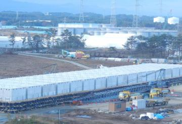 Enformable Temporary storage facilities cesium adsorption tower panorama - Early December
