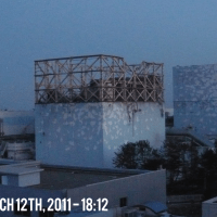 Fukushima Daiichi Unit 1 - March 12th, 2011 - After Explosion Destroyed the Reactor Building