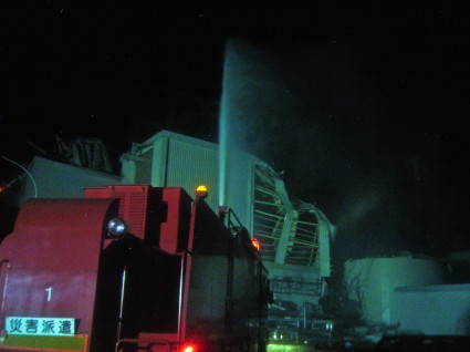 Fukushima Daiichi - Unit 3 Water Discharge Operations - March 17th, 2011 - 2012 - 2  - Enformable