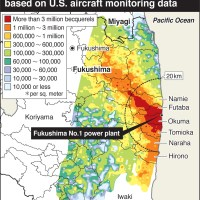 New map of radioactive iodine released from Fukushima Daiichi