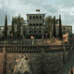 "Screenshot of ""a renovated Villa Auditore"" in Assassin's Creed 2 by Ubi Soft."