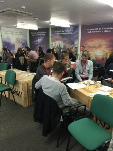 Delegates discussing engaging young people