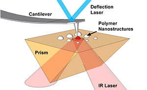 Atomic force microscope infrared spectroscopy (AFM-IR) of polymer nanostructures.