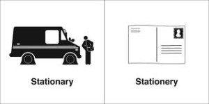 stationary v stationery