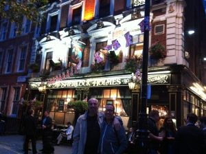 Giuliano and David getting inspiration from Sherlock Holmes