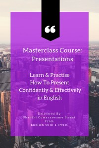 Landing Page for Masterclass Course on Presentations