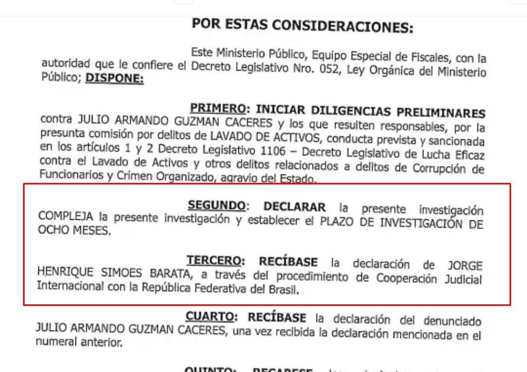 Julio Guzmán califica de falsa denuncia que lo involucra con Odebrecht