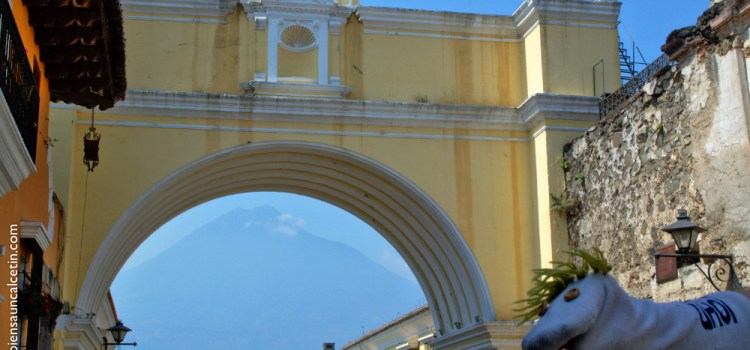 """Probablemente la foto más típica de Guatemala, en Antigua. La de decir """"ahí he estado yo""""."""