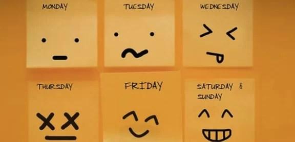 peor dia de semana