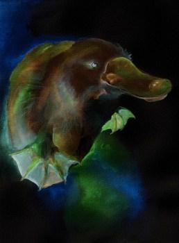 2013 11 04 Watercolour platypuddlingpuss inverted