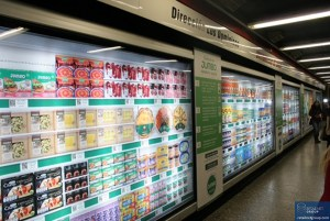 Ordering food with your mobile in a Seoul Metro Station.