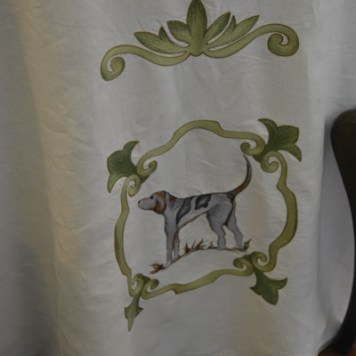 detail of the linens