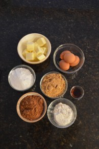 The brownie ingredients