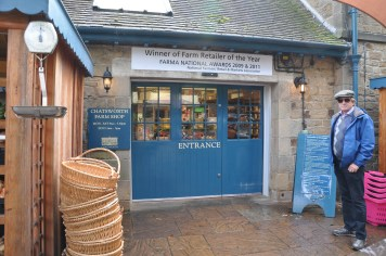 The entrance to the farm shop