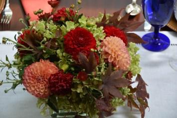 The large flower arrangement
