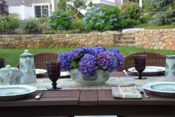 Deep purple hydrangea