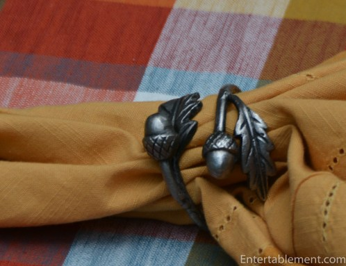 Lovely detail on the Acorn Napkin Rings