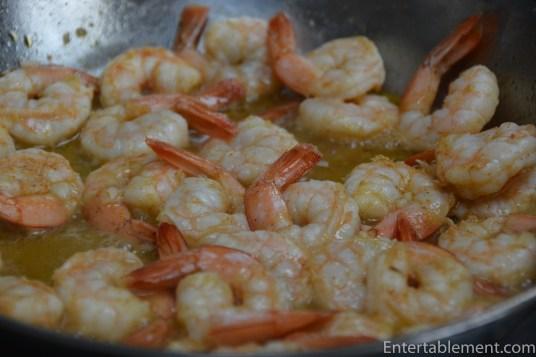 Saute the shrimp until opaque