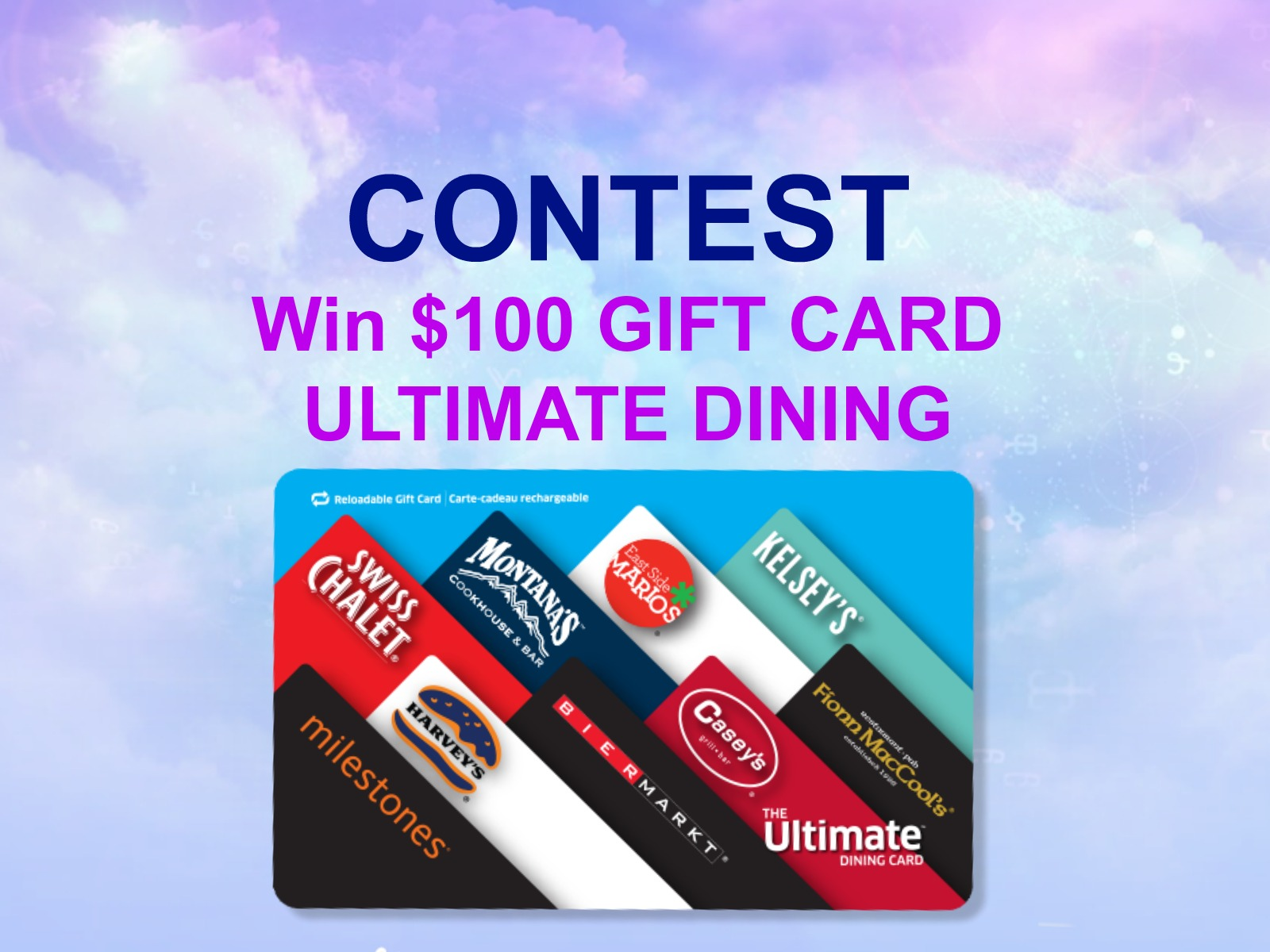 Contest: Win $100 Ultimate Dining Card