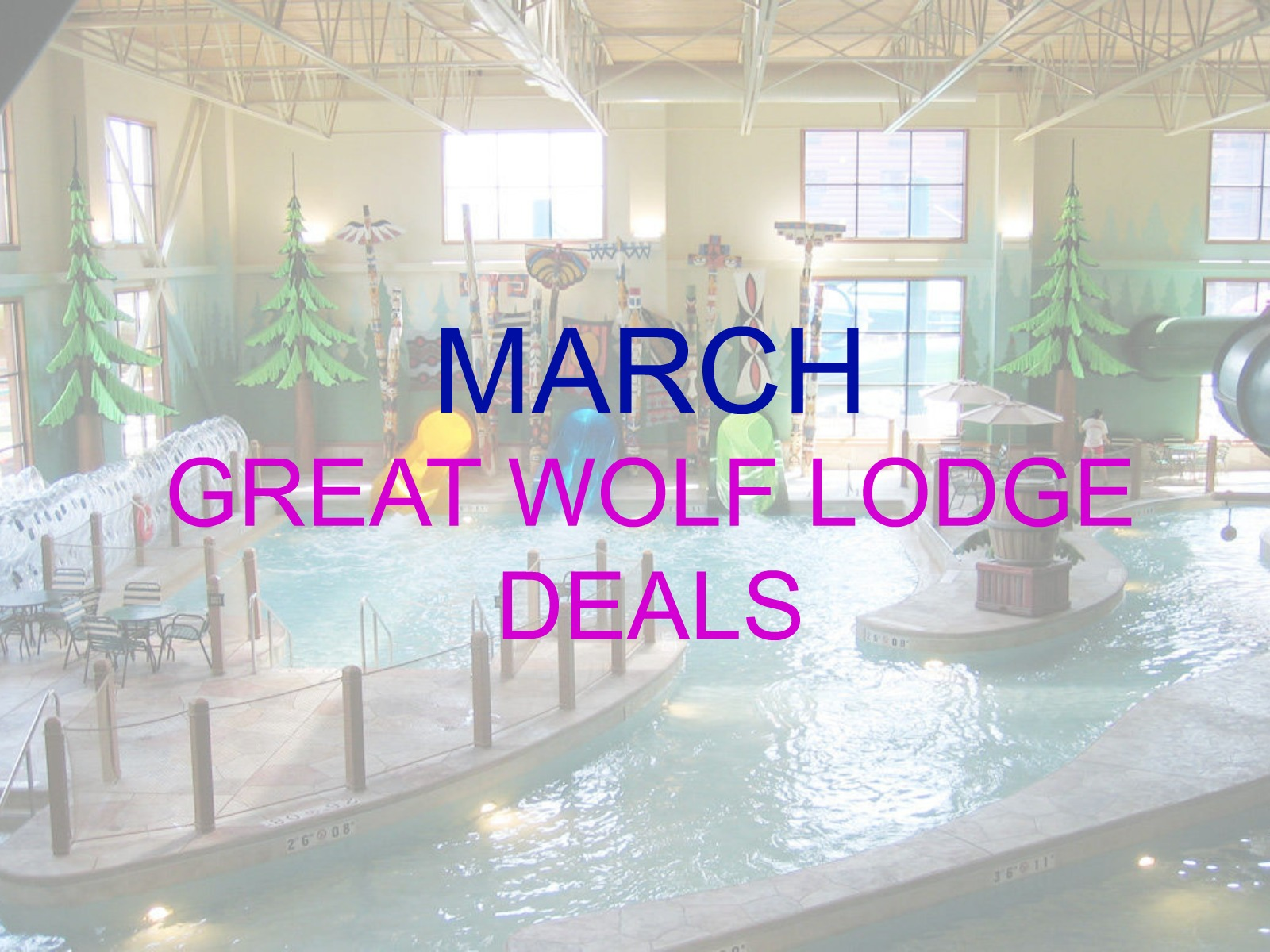 MARCH GREAT WOLF LODGE DEALS