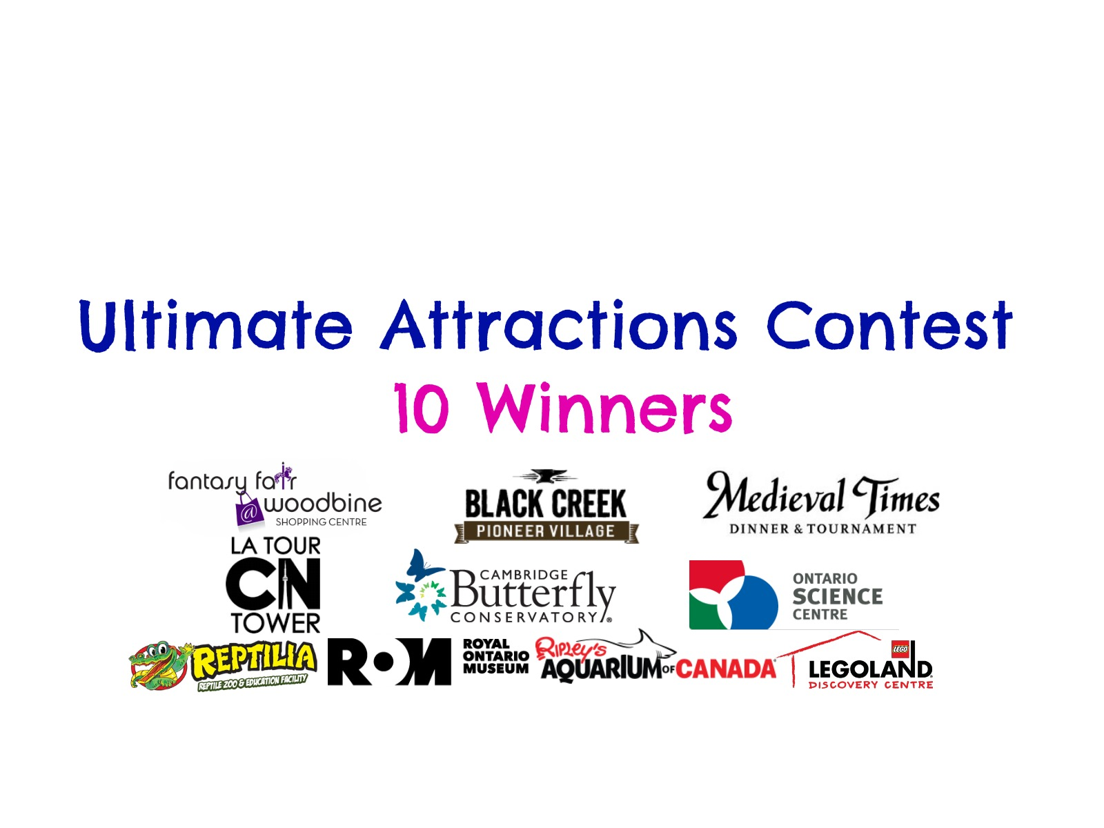 Ultimate Attractions Contest (10 Winners)
