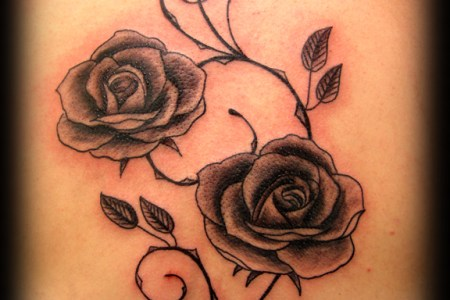 rose tattoo backpiece