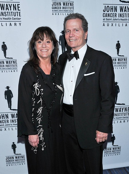 Anita Swift (Grand-daughter of John Wayne) with Patrick Wayne at Odyssey Ball