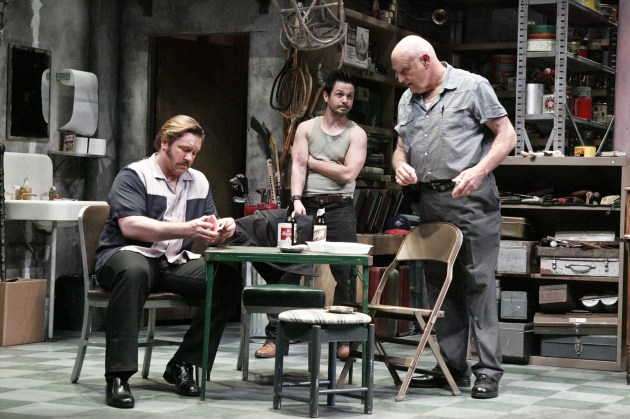 Ron Eldard, Freddy Rodriguez and bill Smitrovich in American Buffalo, directed by Randall Arney at geffen Playhouse (photo by Michael Lamont)