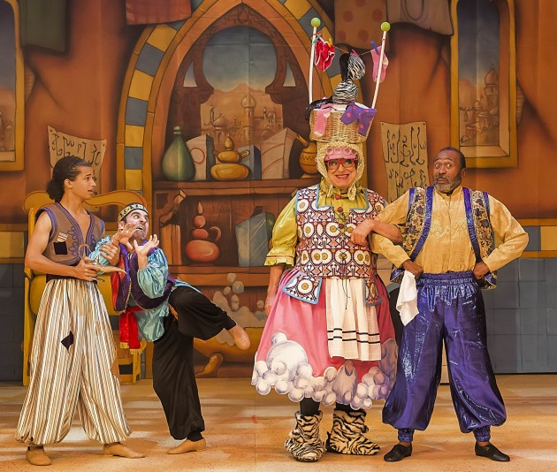 Aladdin with Bruce Vilanch and Ben Vereen (photo Clarence Alford)