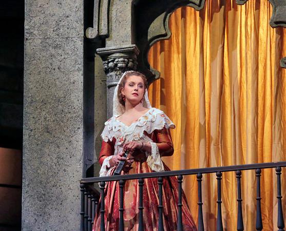 Mezzo-soprano Anke Vondung is Dulcinea in San Diego Opera's DON QUIXOTE, April 2014. Photo copyright Ken Howard.