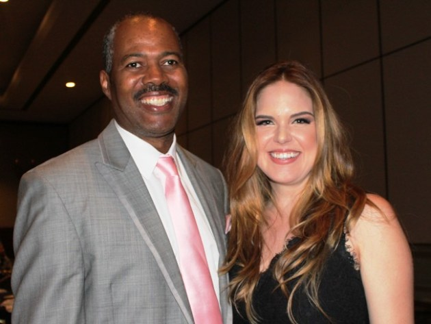 Anthony Griffith, Actor/Comedian with Radio Personality, Jillian Escoto at Dinner of Champions