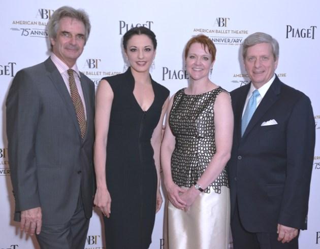 ABT Artistic Director Kevin McKenzie, Principal Dancer Veronika, Part ABT CEO Rachel Moore and President of Piaget N America Larry Bola