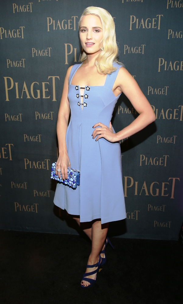 Actress Dianna Agron (Glee) at Piaget Opening
