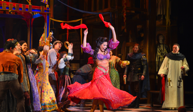 Ciara Renée (center) and Patrick Page (right) ; photo by Kevin Berne.