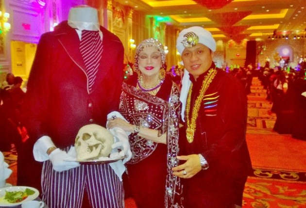 Headless Horseman, Marci & Tennis Pro, Sam Ampatua at Palazzo Party