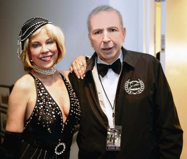 Actress Annie Gaybis Byner with Frank Sinatra Jr. at SHARE (above photo credits:  Maxine Piccard & Vince Bucci)