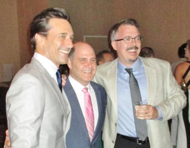 John Hamm, Matthew Weiner, Vince Gilligan (photo by Margie Barron)