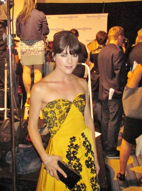 Selma Blair honored with the Universal Smile Award (photo by Margie Barron)